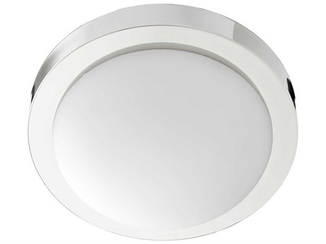 Quorum International Contempo Polished Nickel with OPAL Glass Two-Light 11'' Wide Flush Mount Light QM35051162