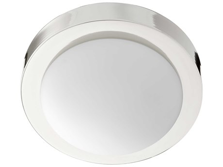 Quorum International Contempo Polished Nickel with Satin Opal Glass 9'' Wide Flush Mount Light QM3505962
