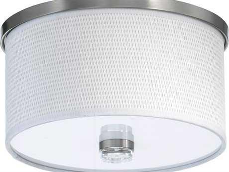 Quorum International Copeland Satin Nickel Flush Mount Light QM6591165
