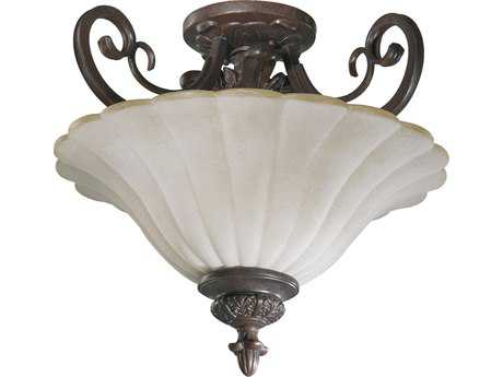Quorum International Coronado Gilded Bronze Two-Lights Semi-Flush Mount Light QM28951738