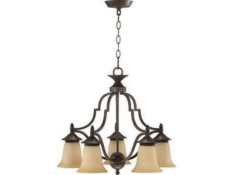 Quorum International Coventry Toasted Sienna Five-Light 22'' Wide s Mini Chandelier QM616544