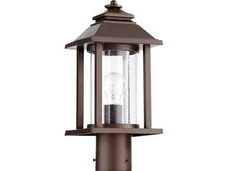 Quorum International Crusoe Oiled Bronze Outdoor Post Light QM727486