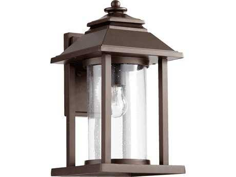 Quorum International Crusoe Oiled Bronze Outdoor Wall Lantern QM727286