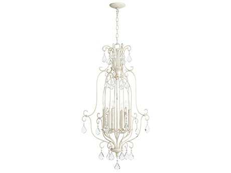 Quorum International Cuboid Entry Persian White Six-Light 21'' Wide Chandelier QM6705670