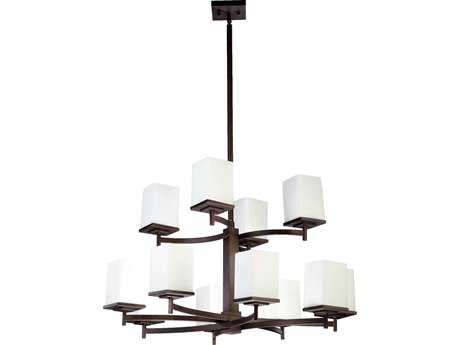 Quorum International Delta Oiled Bronze 12-Light 34'' Wide Chandelier QM60841286