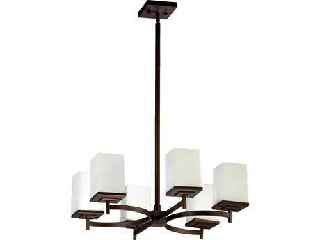Quorum International Delta Oiled Bronze Six-Light 22'' Wide Chandelier QM6084686