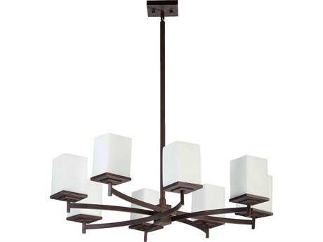 Quorum International Delta Oiled Bronze Eight-Light 33'' Wide Chandelier QM6084886