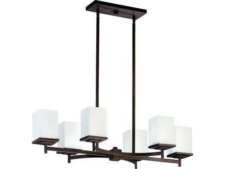 Quorum International Delta Oiled Bronze Six-Lights Island Light QM6584686
