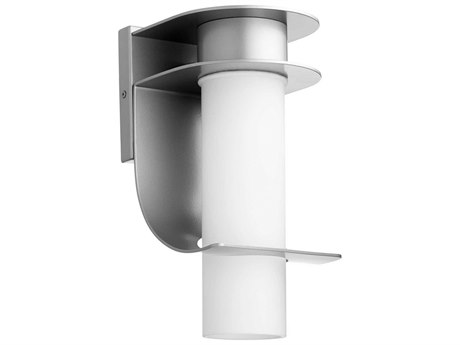 Quorum International Downing Graphite with Satin Opal Glass 6'' Wide Outdoor Wall Light QM7503