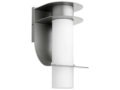 Quorum International Downing Graphite with Satin Opal Glass 8'' Wide Outdoor Wall Light