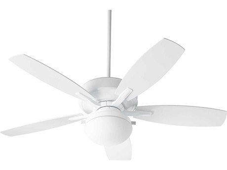 Quorum International Eden White Two-Light 52'' Wide LED  Outdoor Ceiling Fan with White Blades QM185256