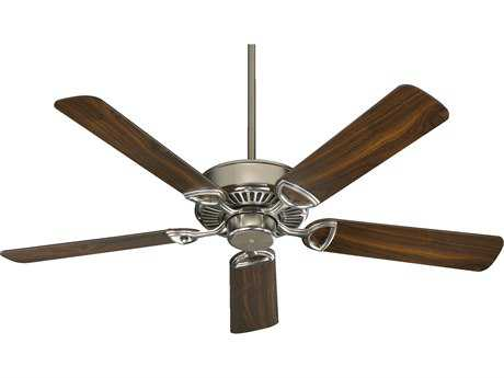 Quorum International Estate Satin Nickel with Walnut 52 Inch Indoor Ceiling Fan QM4352565