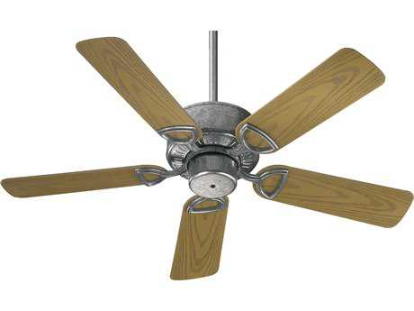 Quorum International Estate Patio Galvanized 42 Inch Outdoor Ceiling Fan QM1434259