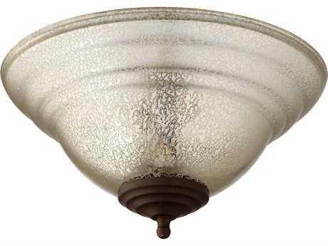 Quorum International Satin Nickel / Oiled Bronze with Silver Mercury Two-Lights Fan Light Kit