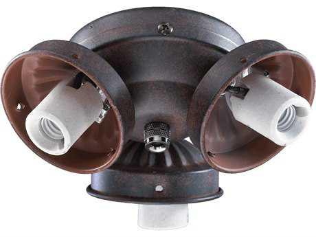 Quorum International Toasted Sienna Three-Lights Fan Light Kit