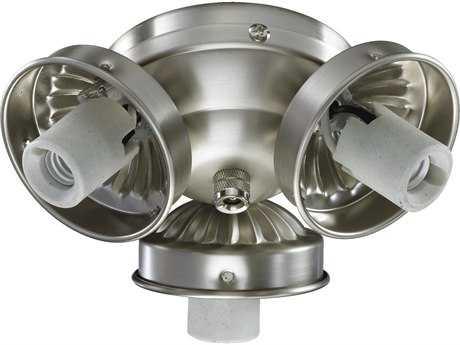 Quorum International Satin Nickel Three-Lights Fan Light Kit QM23039065