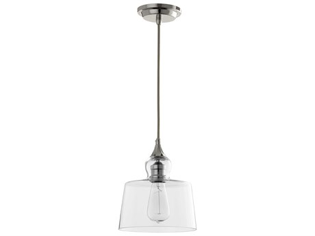 Quorum International Polished Nickel with Clear Glass 8.5'' Wide Mini-Pendant Light QM800162