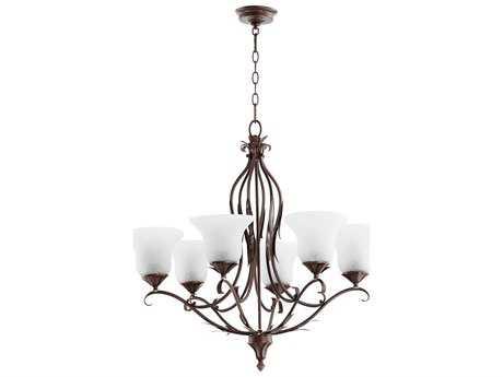 Quorum International Flora Vintage Copper Six-Light 30'' Wide Chandelier QM6272639