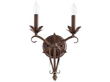 Quorum International Flora Vintage Copper Two-Light Wall Sconce QM5472239