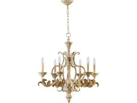 Quorum International Florence Persian White Six-Light 27'' Wide Chandelier QM6037670