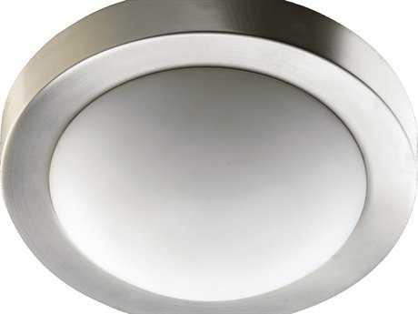 Quorum International Satin Nickel Two-Lights Flush Mount Light QM35051165