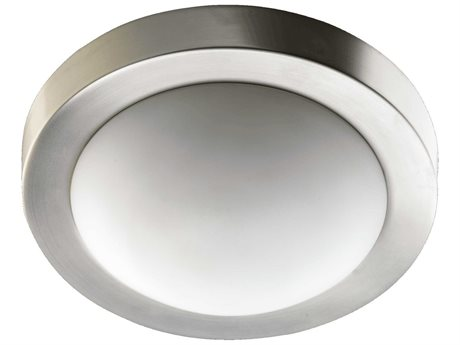 Quorum International Satin Nickel Flush Mount Light QM3505965