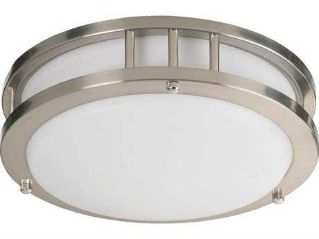 Quorum International Satin Nickel Flush Mount Light QM87210165