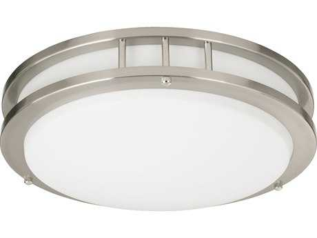 Quorum International Satin Nickel Flush Mount Light QM87215165