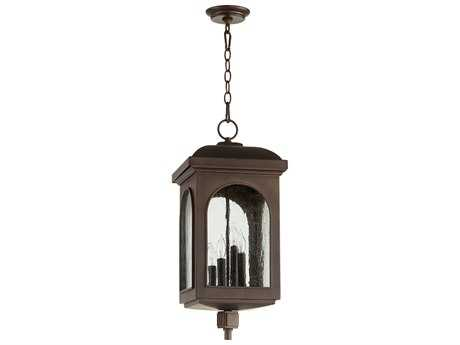 Quorum International Fuller Oiled Bronze Four-Light Outdoor Hanging Light