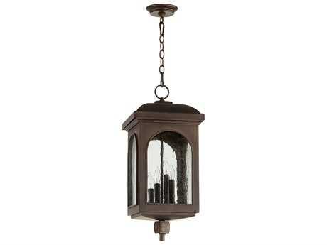 Quorum International Fuller Oiled Bronze Four-Light Outdoor Hanging Light QM7604486