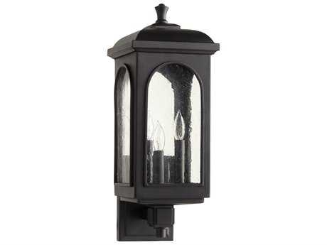 Quorum International Fuller Noir Three-Light Outdoor Wall Light