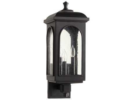 Quorum International Fuller Noir Three-Light Outdoor Wall Light QM7603369