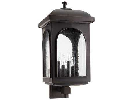 Quorum International Fuller Oiled Bronze Four-Light Outdoor Wall Light