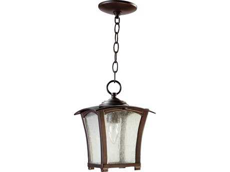 Quorum International Gable Oiled Bronze Outdoor Hanging Light QM7511886