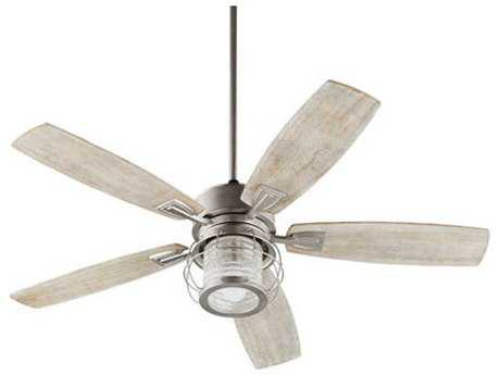 Quorum International Galveston Satin Nickel Indoor Ceiling Fan QM352565