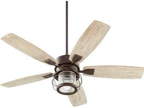 Quorum International Galveston Oiled Bronze Indoor Ceiling Fan