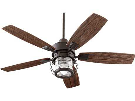 Quorum International Galveston Oiled Bronze 52 Inch Outdoor Ceiling Fan with Light QM1352586