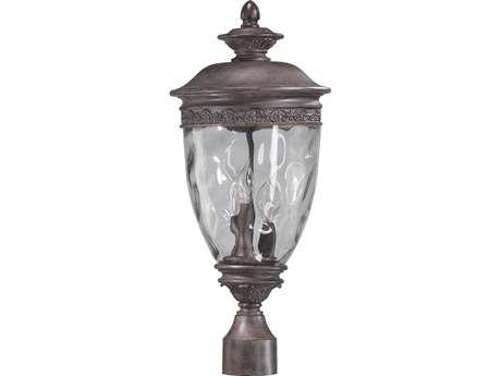 Quorum International Georgia Etruscan Sienna Three-Lights Outdoor Post Light QM7402343