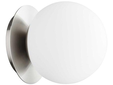 Quorum International Globe Satin Nickel with Satin Opal Glass 6'' Wide Vanity Light QM339165