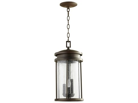 Quorum International Hadley Oiled Bronze Three-Light 8'' Wide Hanging Light QM7111386