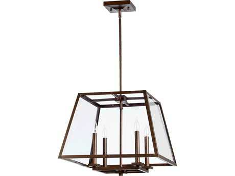 Quorum International Kaufmann Oiled Bronze Four-Lights Pendant Light QM6104486