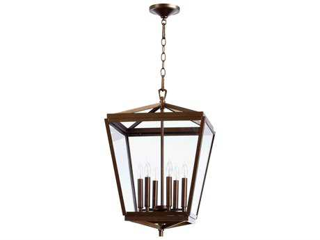 Quorum International Kaufmann Oiled Bronze Six-Light 15'' Wide Pendant Light QM6604686