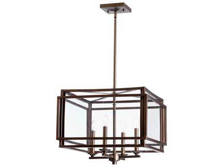 Quorum International Kaufmann Oiled Bronze Four-Light 27'' Wide Pendant Light QM6904486