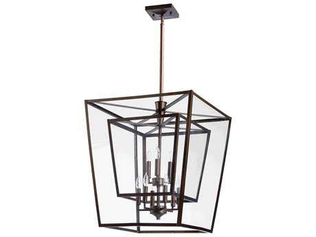 Quorum International Kaufmann Oiled Bronze Nine-Light 31'' Wide Pendant Light QM6904986