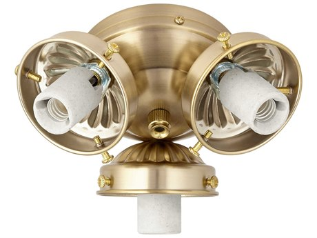 Quorum International Aged Brass Three-Light Fan Light Kit QM23039080