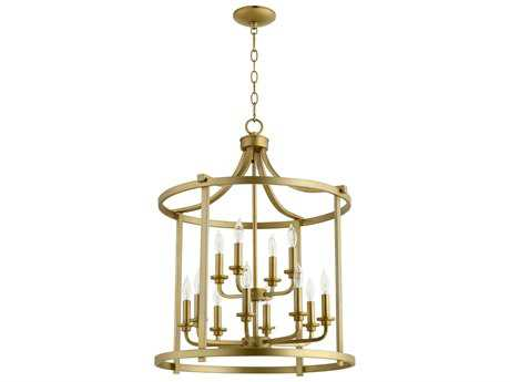 Quorum International Lancaster Aged Brass 12-Light 22'' Wide Chandelier QM68071280