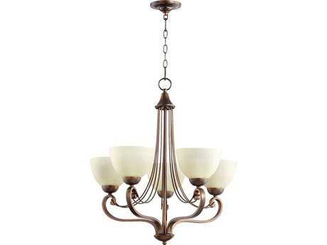 Quorum International Lariat Oiled Bronze Five-Light 26'' Wide Chandelier QM6031586