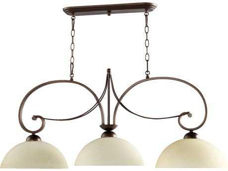 Quorum International Lariat Oiled Bronze Three-Lights Island Light QM6631386