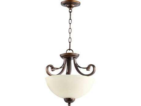 Quorum International Lariat Oiled Bronze Two-Lights Pendant Light QM27311486