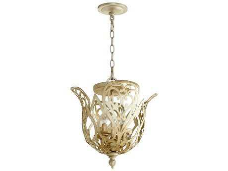 Quorum International Le Monde Vintage Gold Leaf Four-Light 14.5'' Wide Pendant Light QM2192430